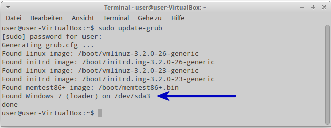05 sudo update grub